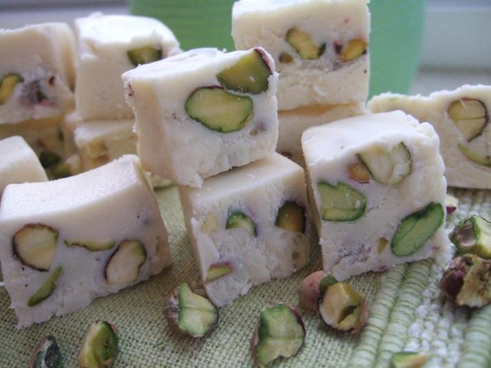 douceurs aux pistaches et chocolat blanc