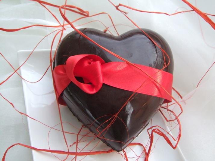 coeur en chocolat à l'orange