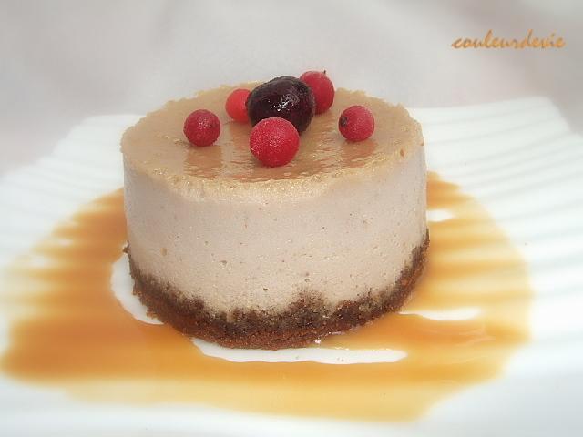 cheesecake à la banane sauce caramel au lait de coco rhum