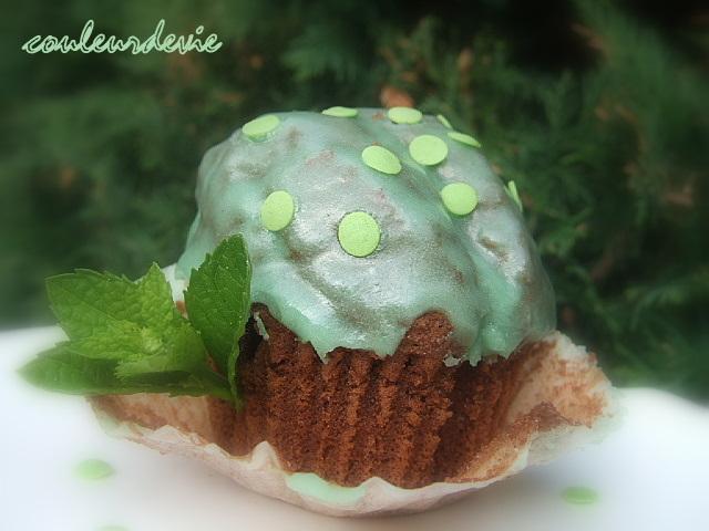 cupcake chocolat-menthe