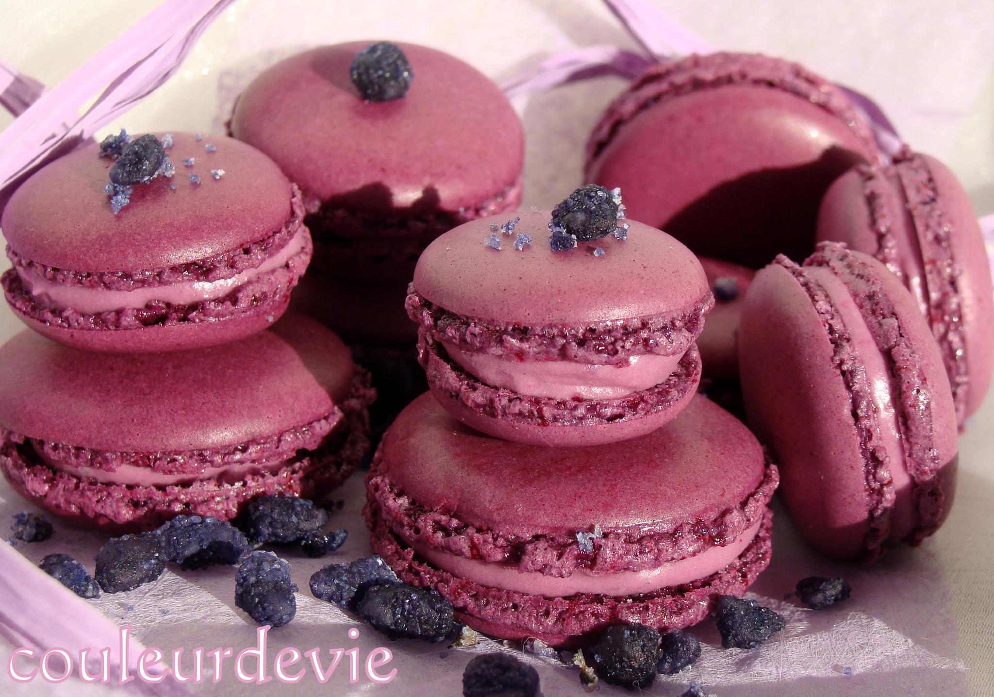 Macarons la violette pour f ter l arriv e du printemps - Sirop de violette ...