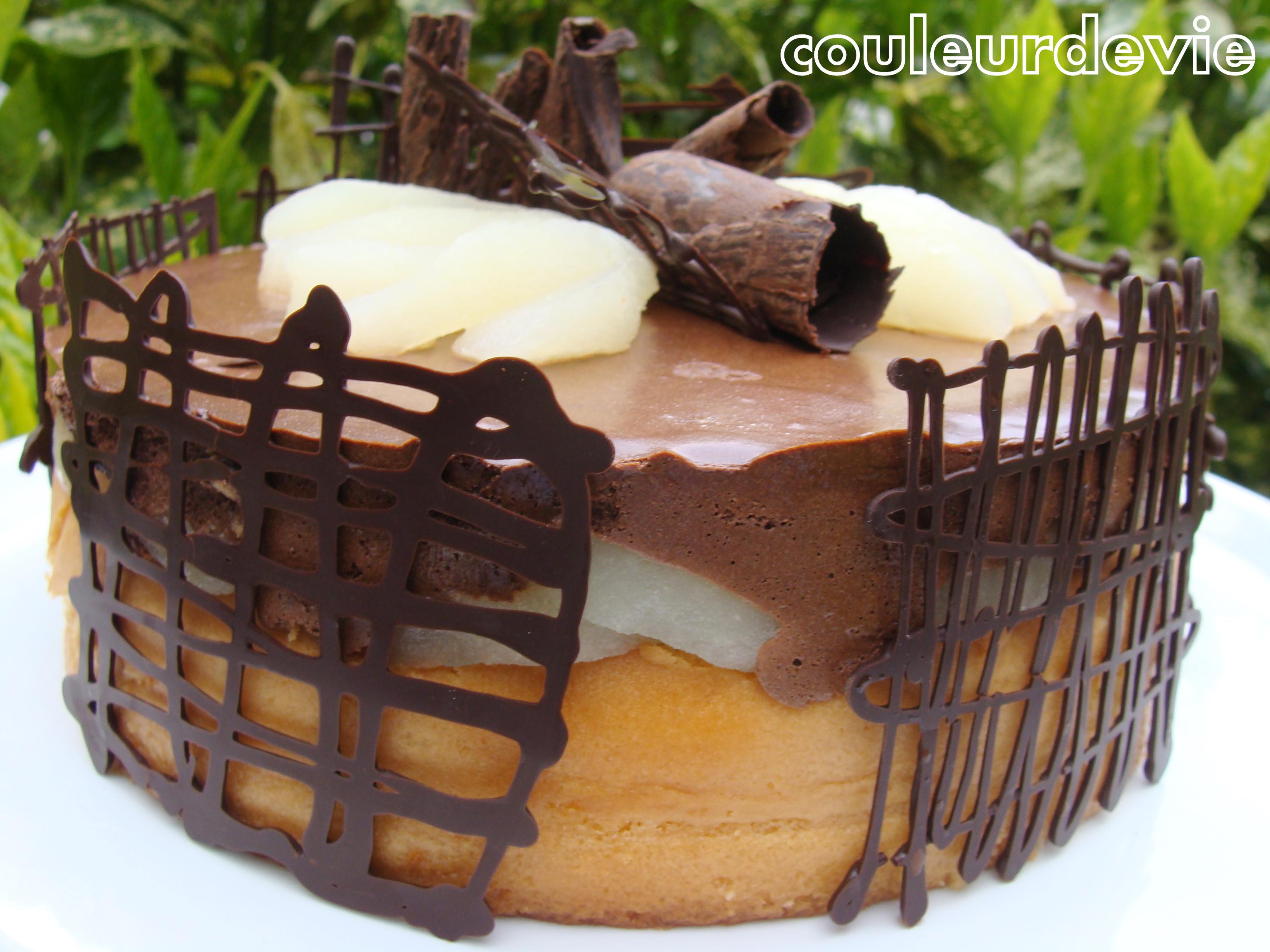 G Teau Mousseux Chocolat Poire Couleurdevie