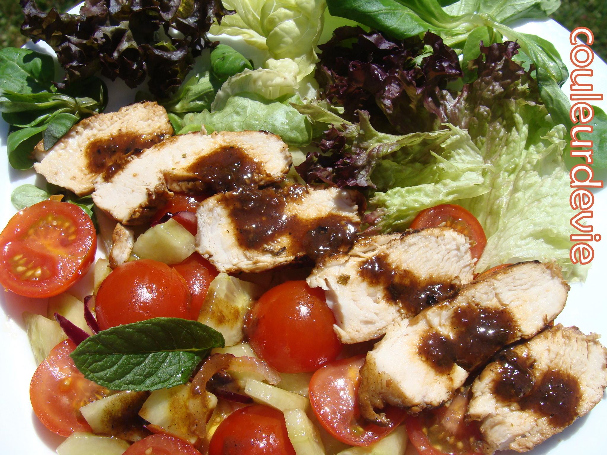 Salade estivale au poulet marin couleurdevie for Entree estivale