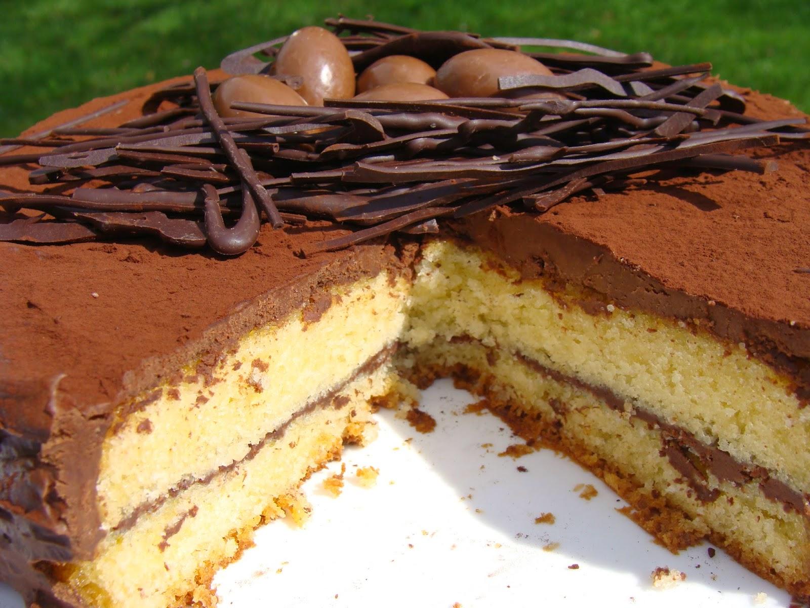 Gateau au chocolat avec reste de chocolat de paques